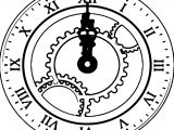Clock Coloring Page WeColoringPage 141