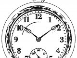 Clock Coloring Page WeColoringPage 151