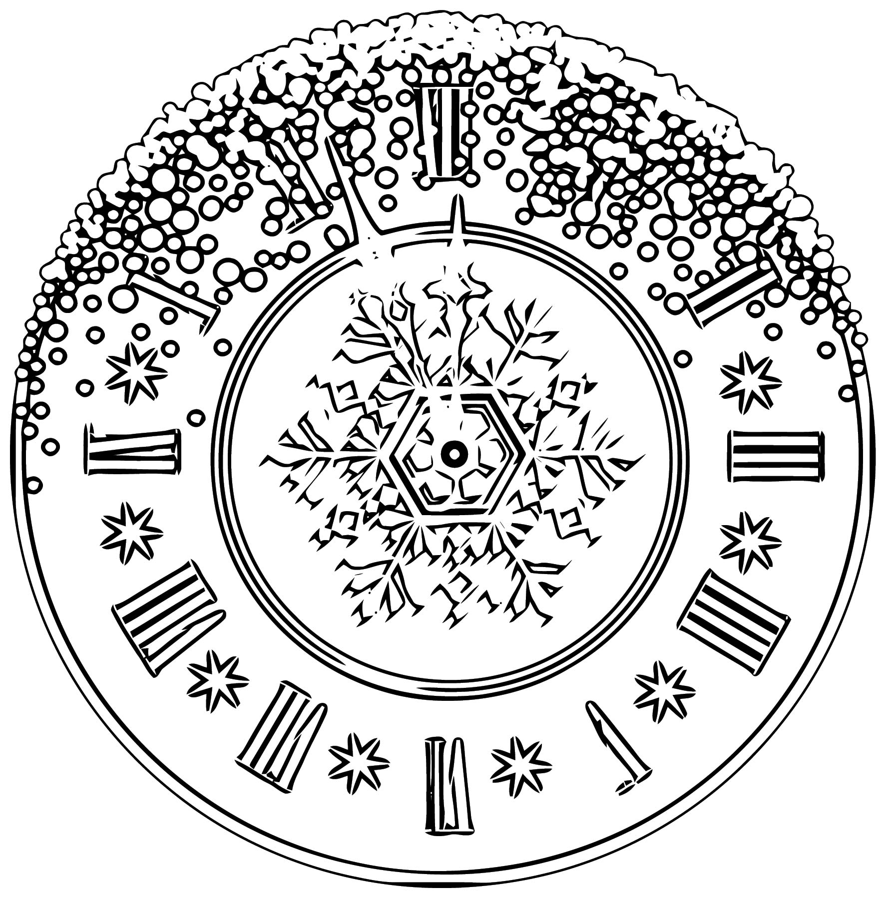 Clock Coloring Page WeColoringPage 153