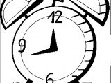 Clock Coloring Page WeColoringPage 156