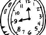 Clock Coloring Page WeColoringPage 160