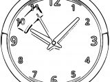 Clock Coloring Page WeColoringPage 167