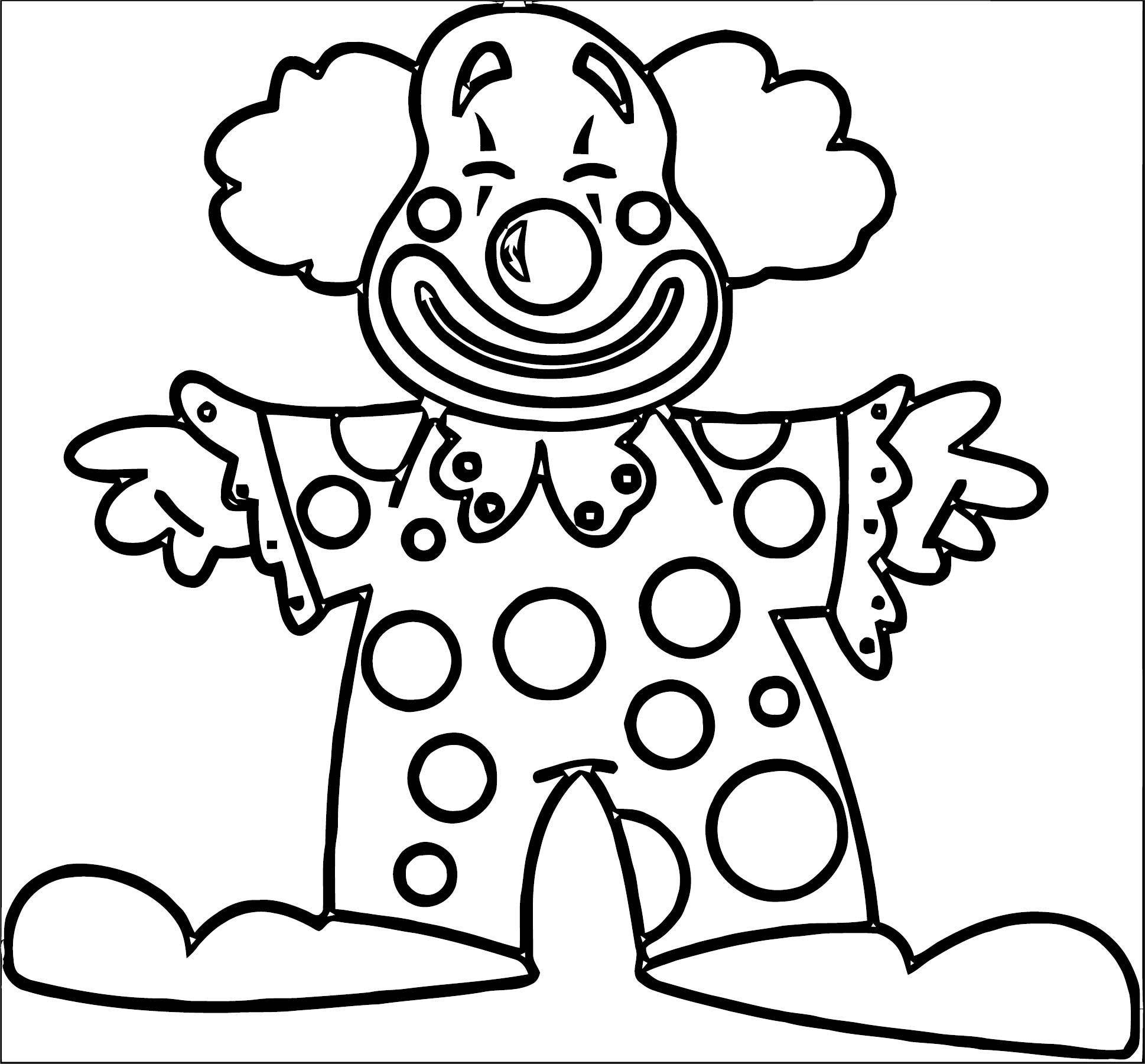 Clown Coloring Page WeColoringPage 074