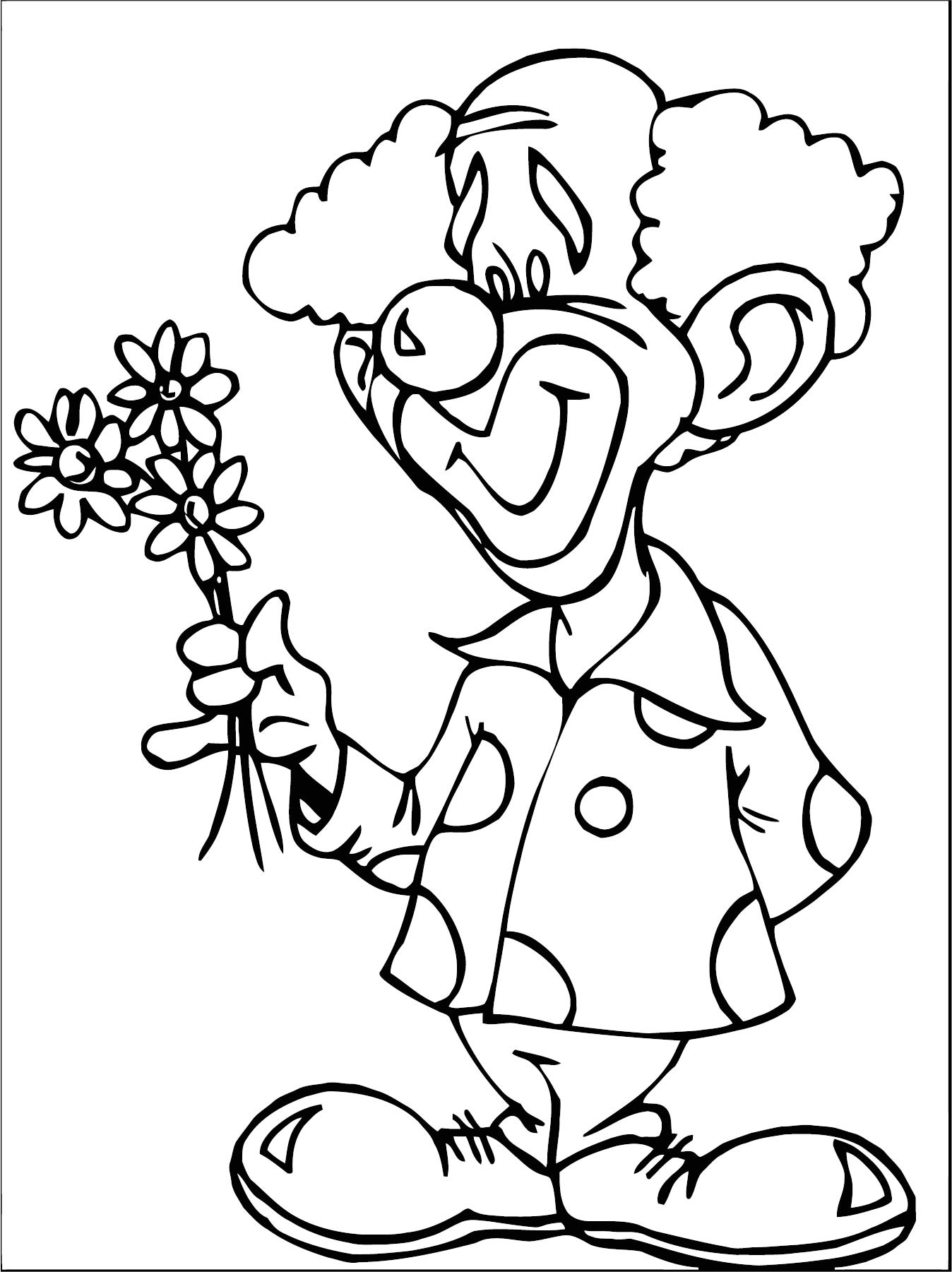 Clown Coloring Page WeColoringPage 080