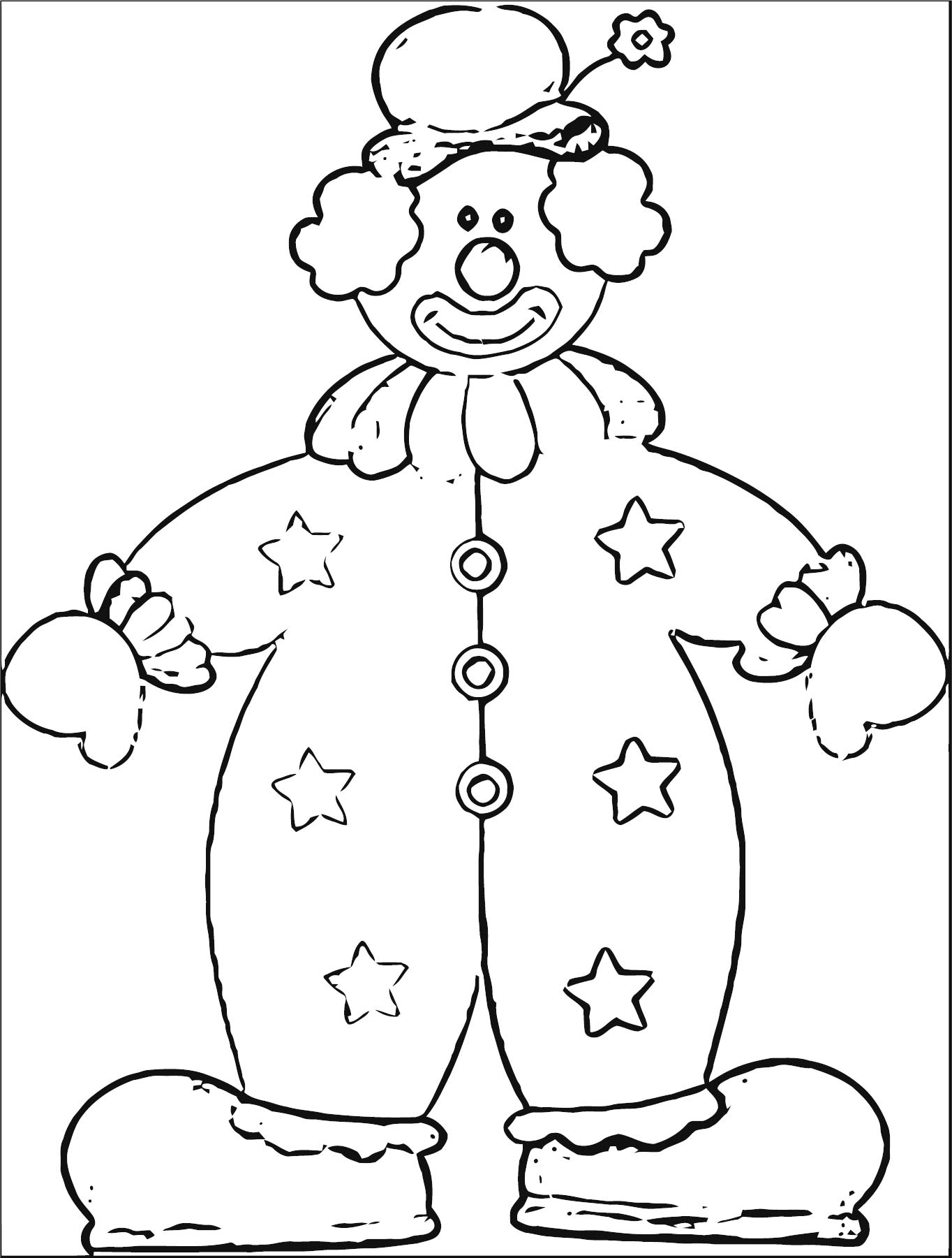 Clown Coloring Page WeColoringPage 083