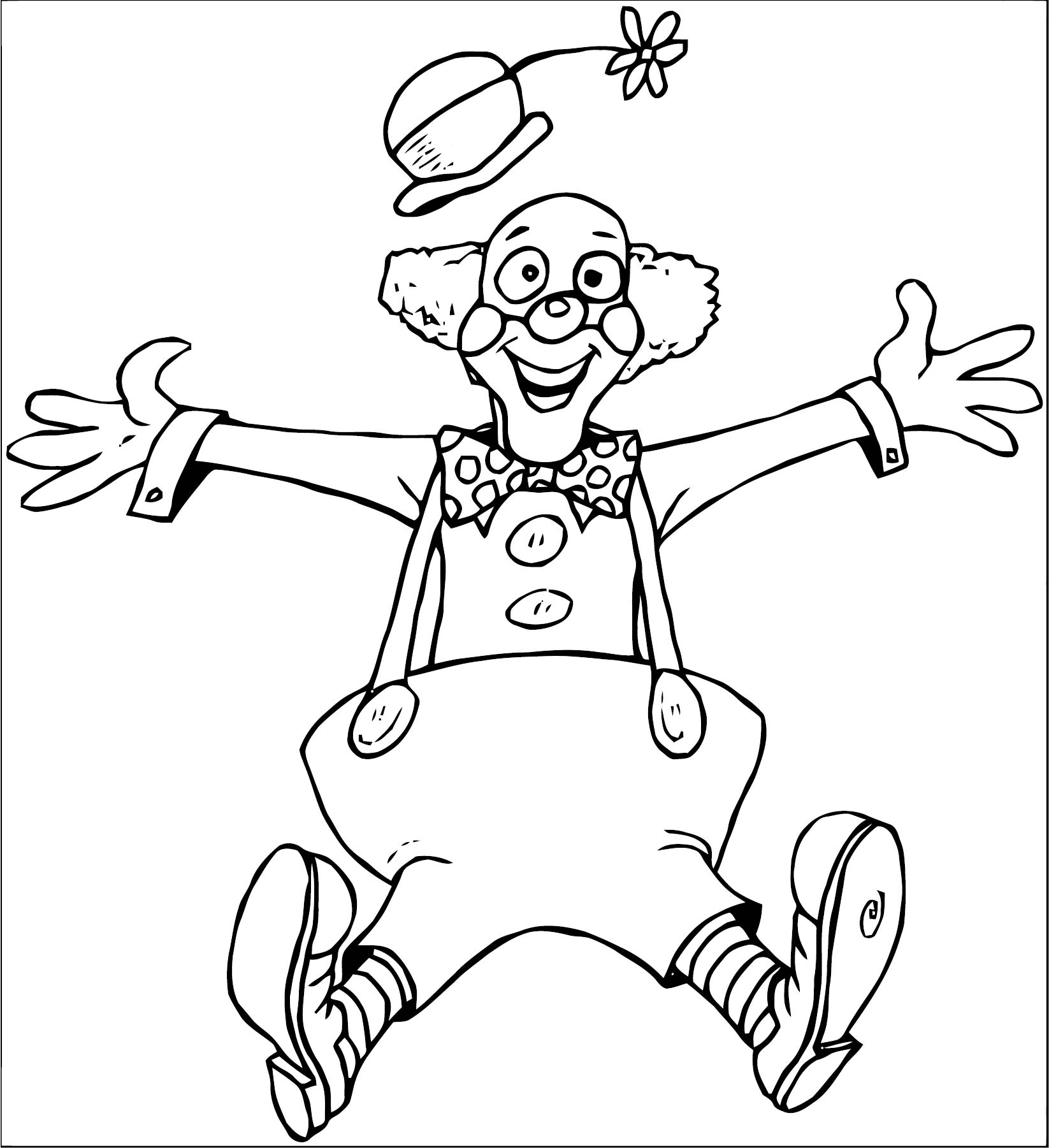 Clown Coloring Page WeColoringPage 086