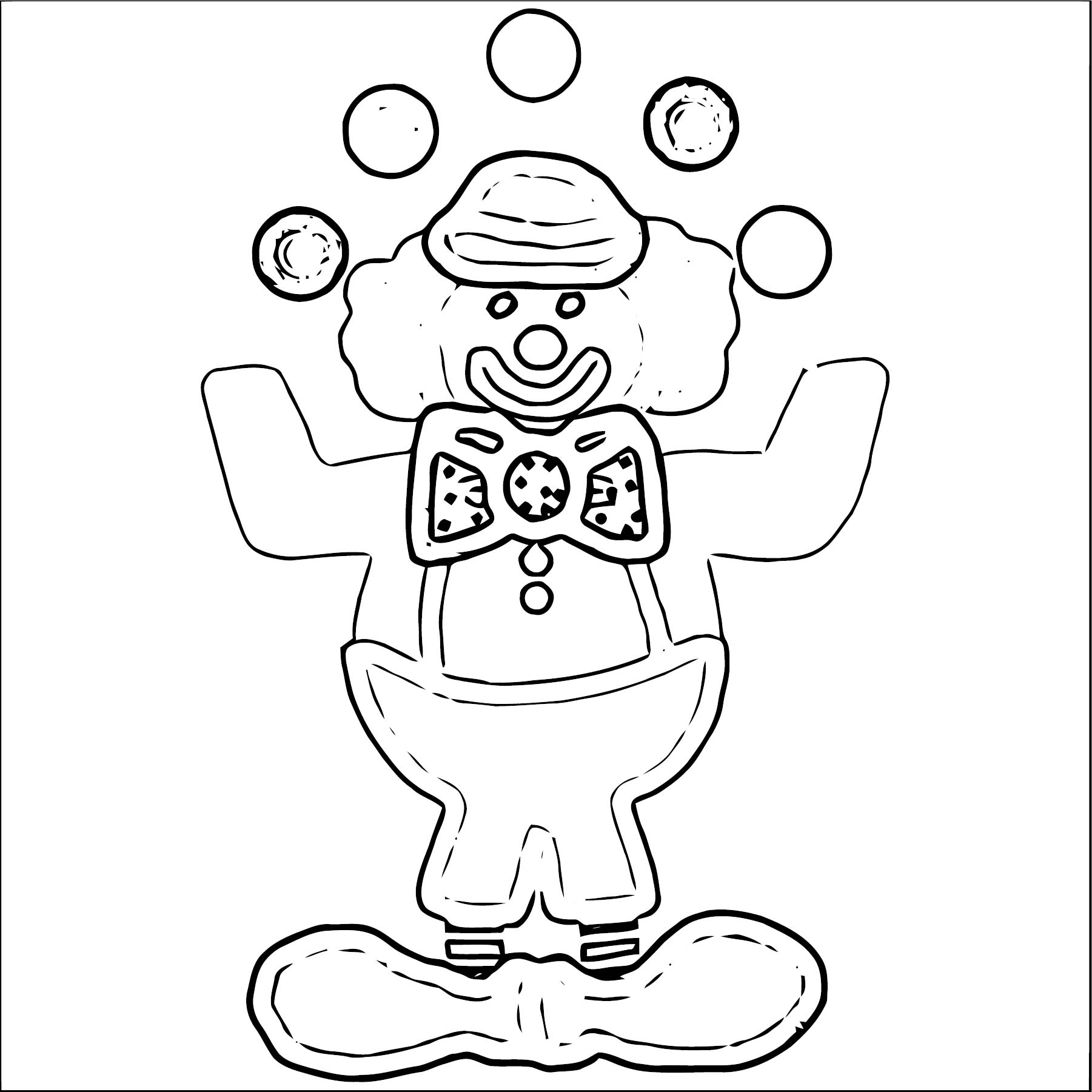 Clown Coloring Page WeColoringPage 088