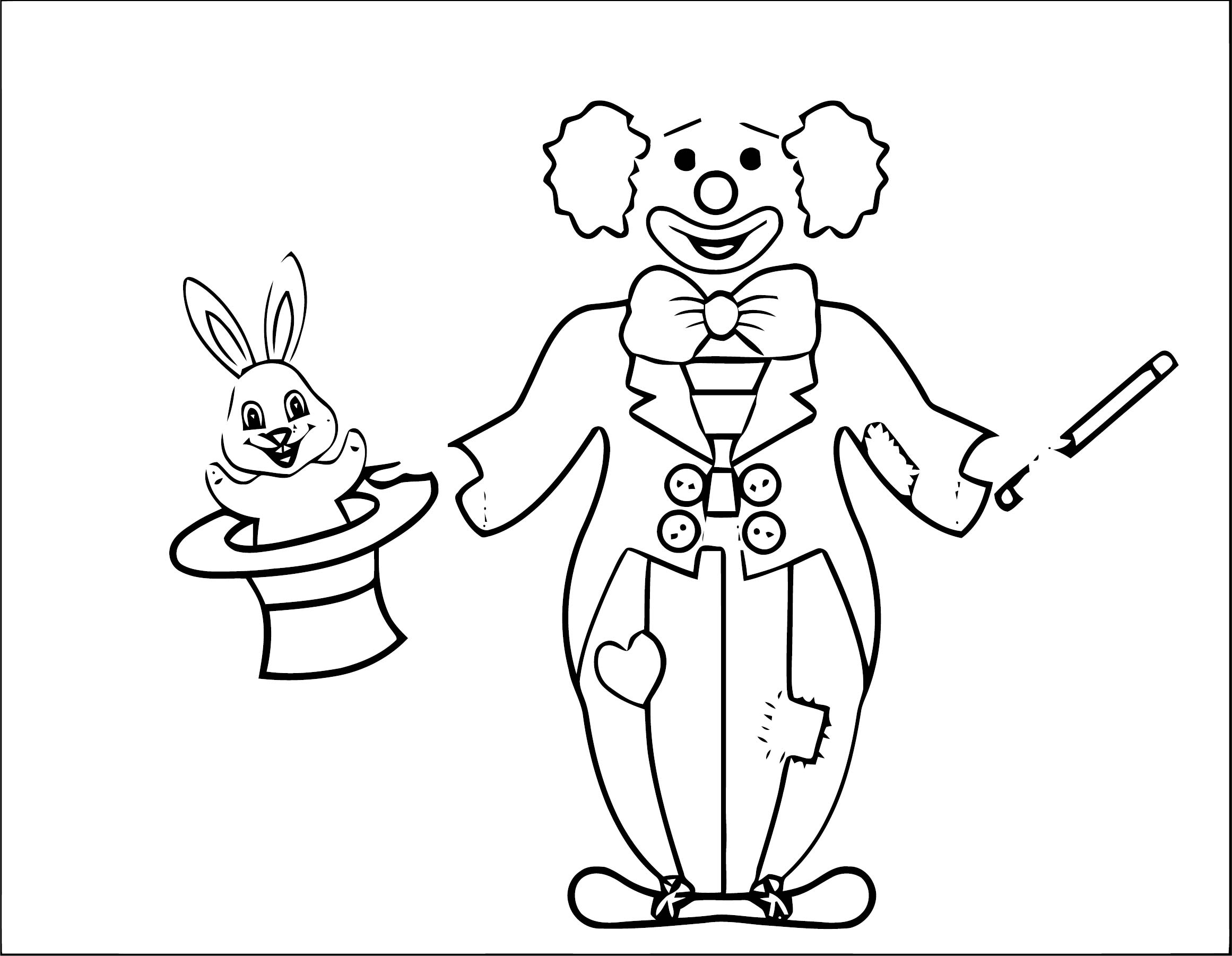 Clown Coloring Page WeColoringPage 095