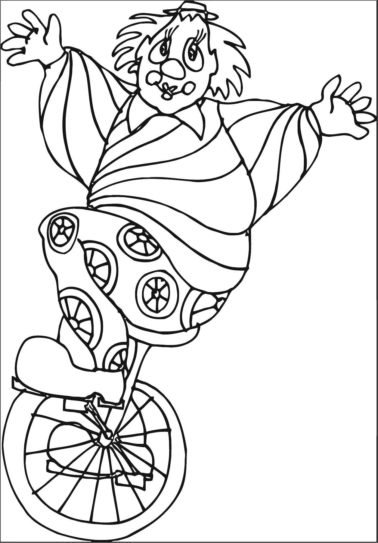 Clown Coloring Page WeColoringPage 098