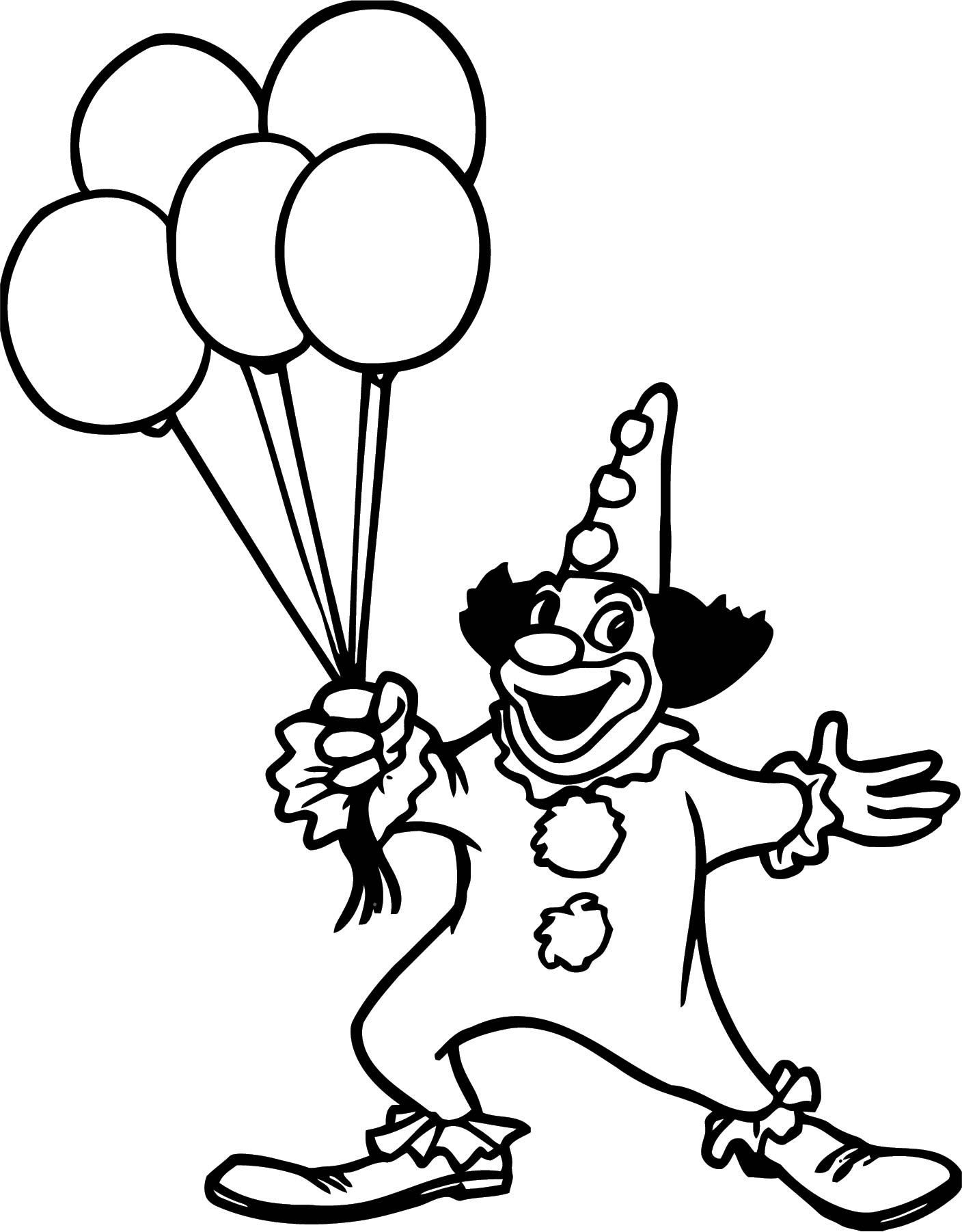 Clown Coloring Page WeColoringPage 103
