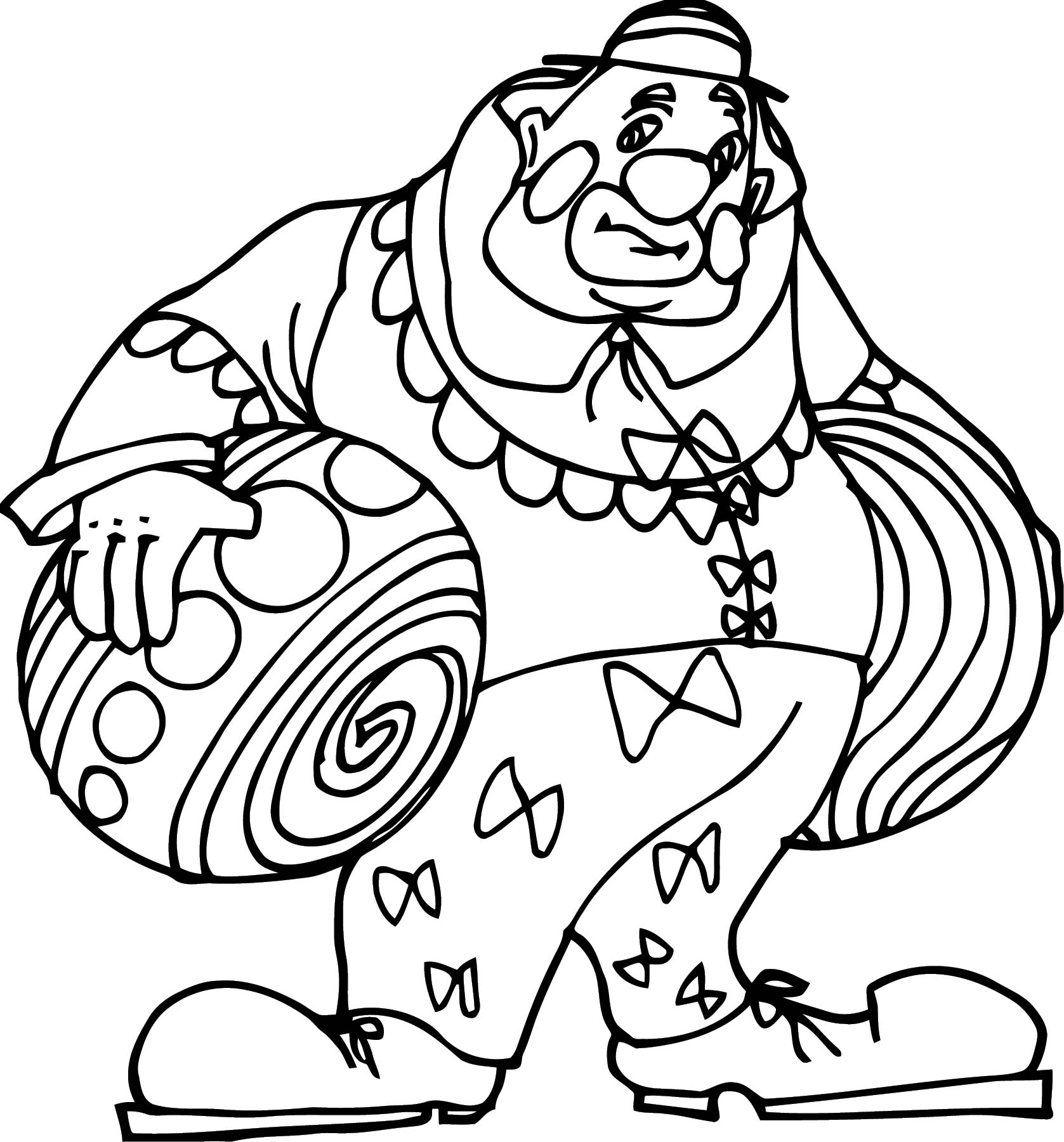 Clown Coloring Page WeColoringPage 104