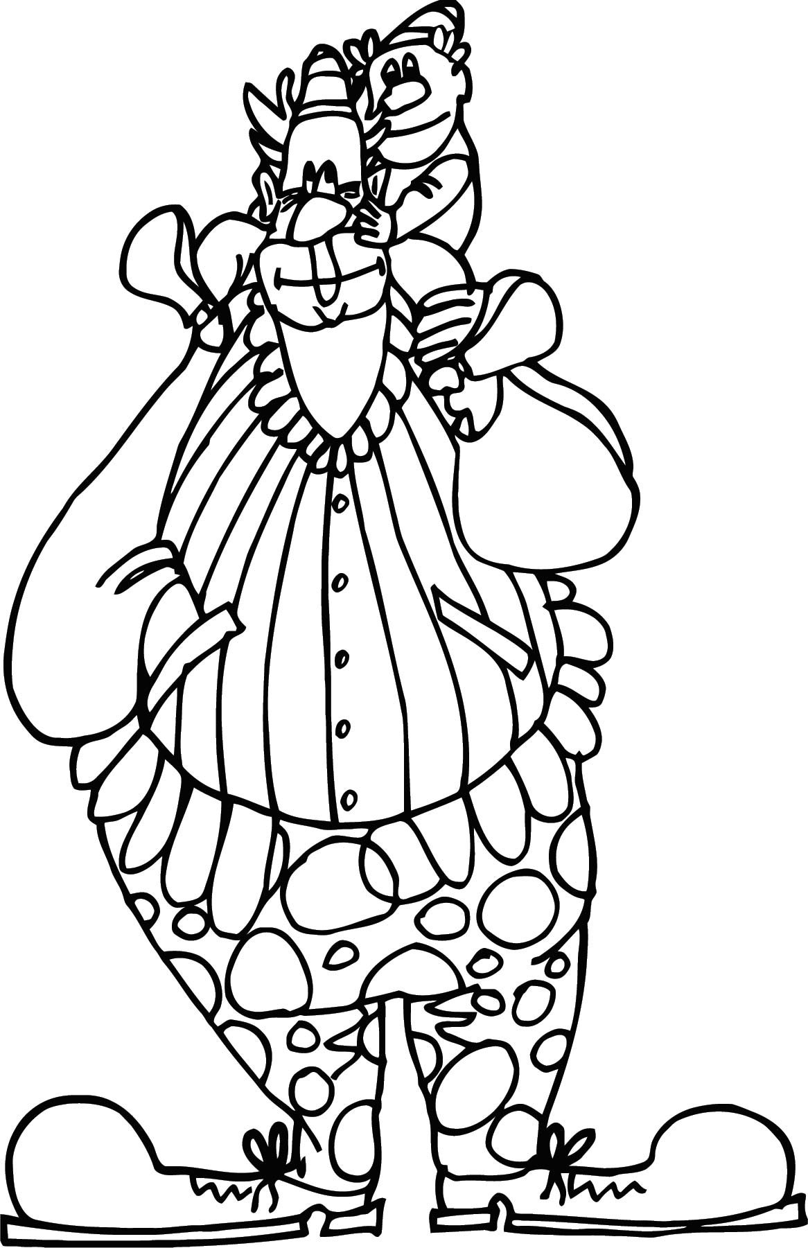 Clown Coloring Page WeColoringPage 106