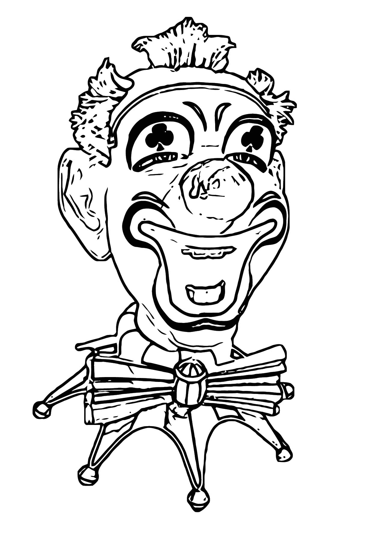 Clown Coloring Page WeColoringPage 109