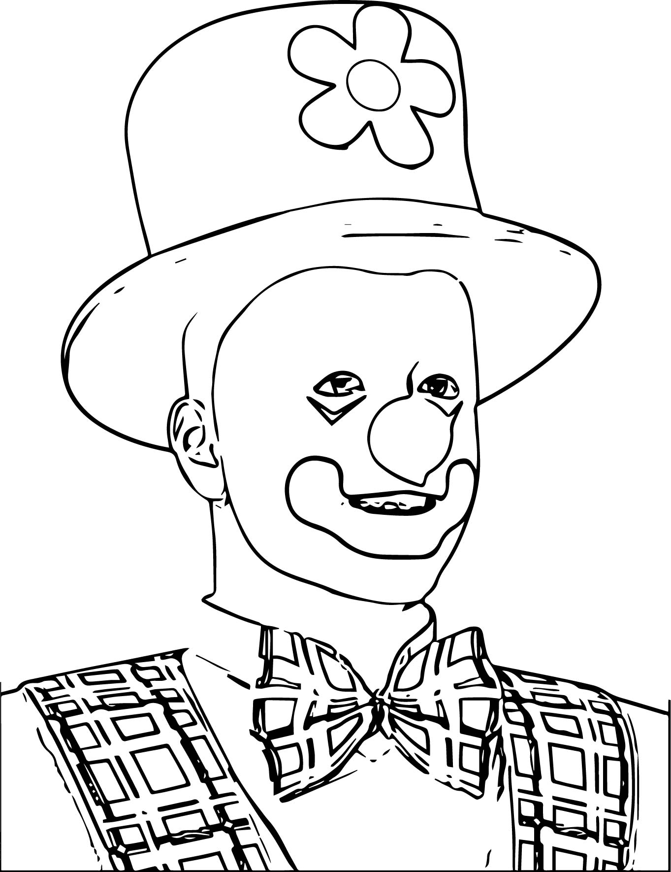 Clown Coloring Page WeColoringPage 110