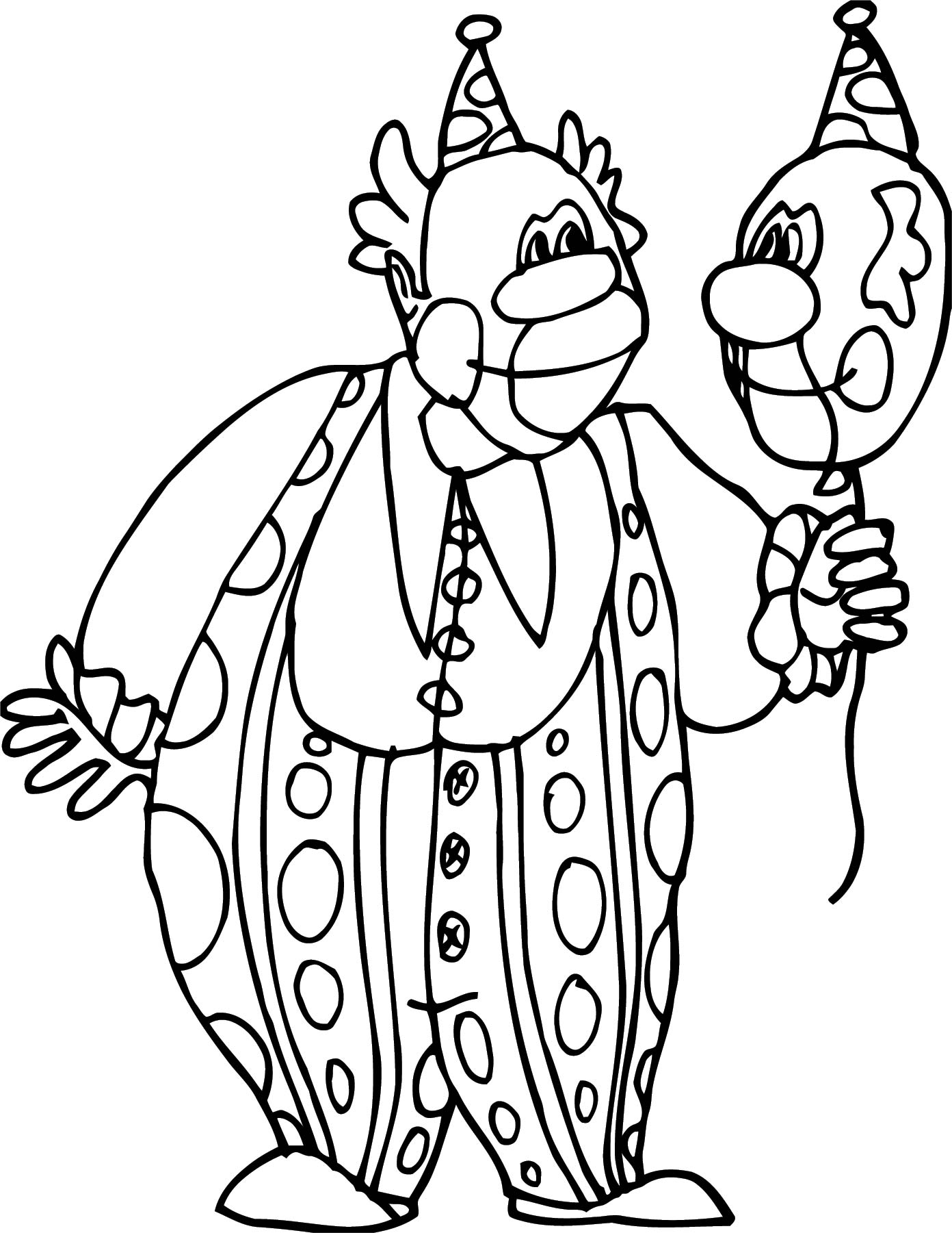 Clown Coloring Page WeColoringPage 128