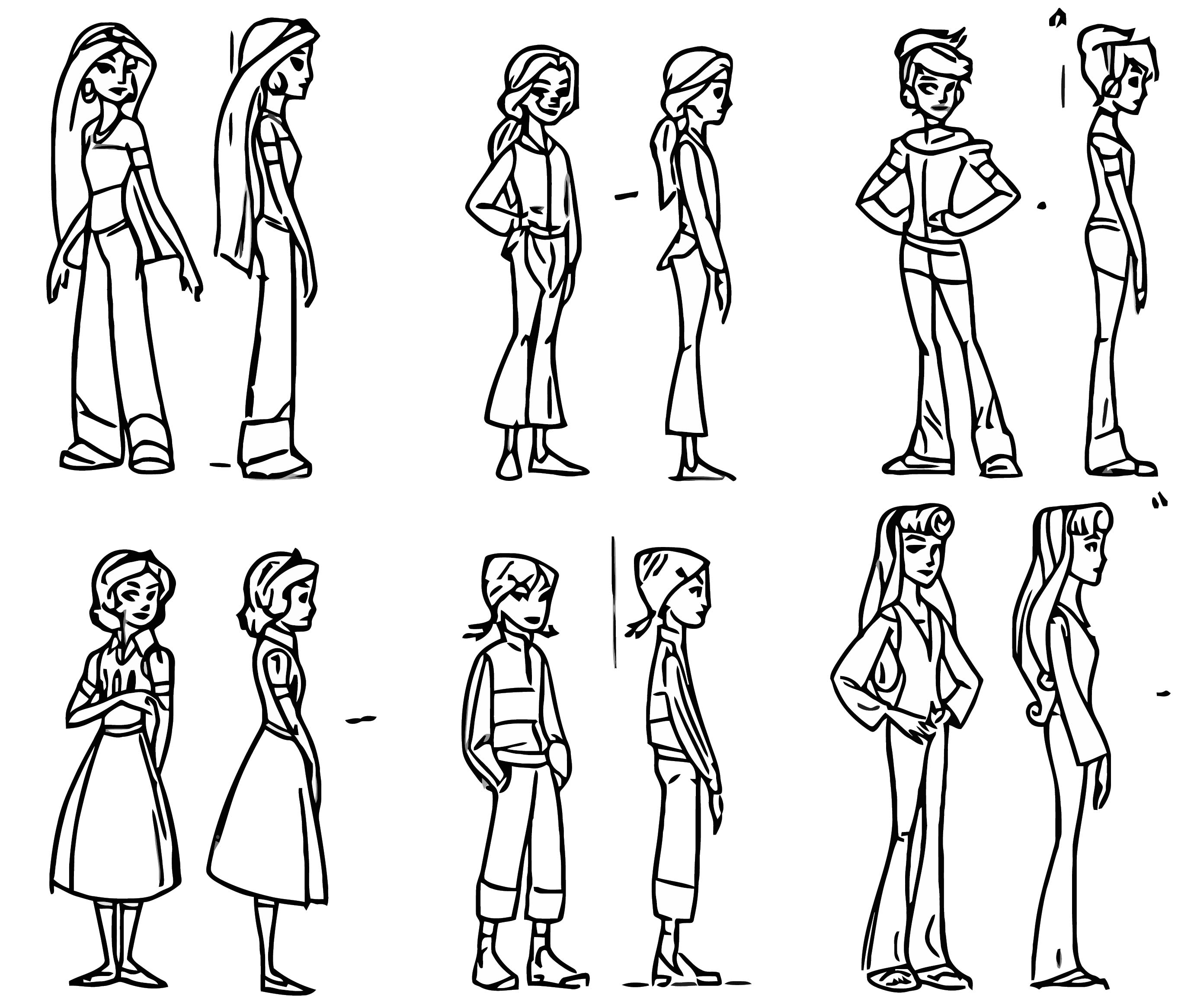 Disney Girl Character Design Coloring Page