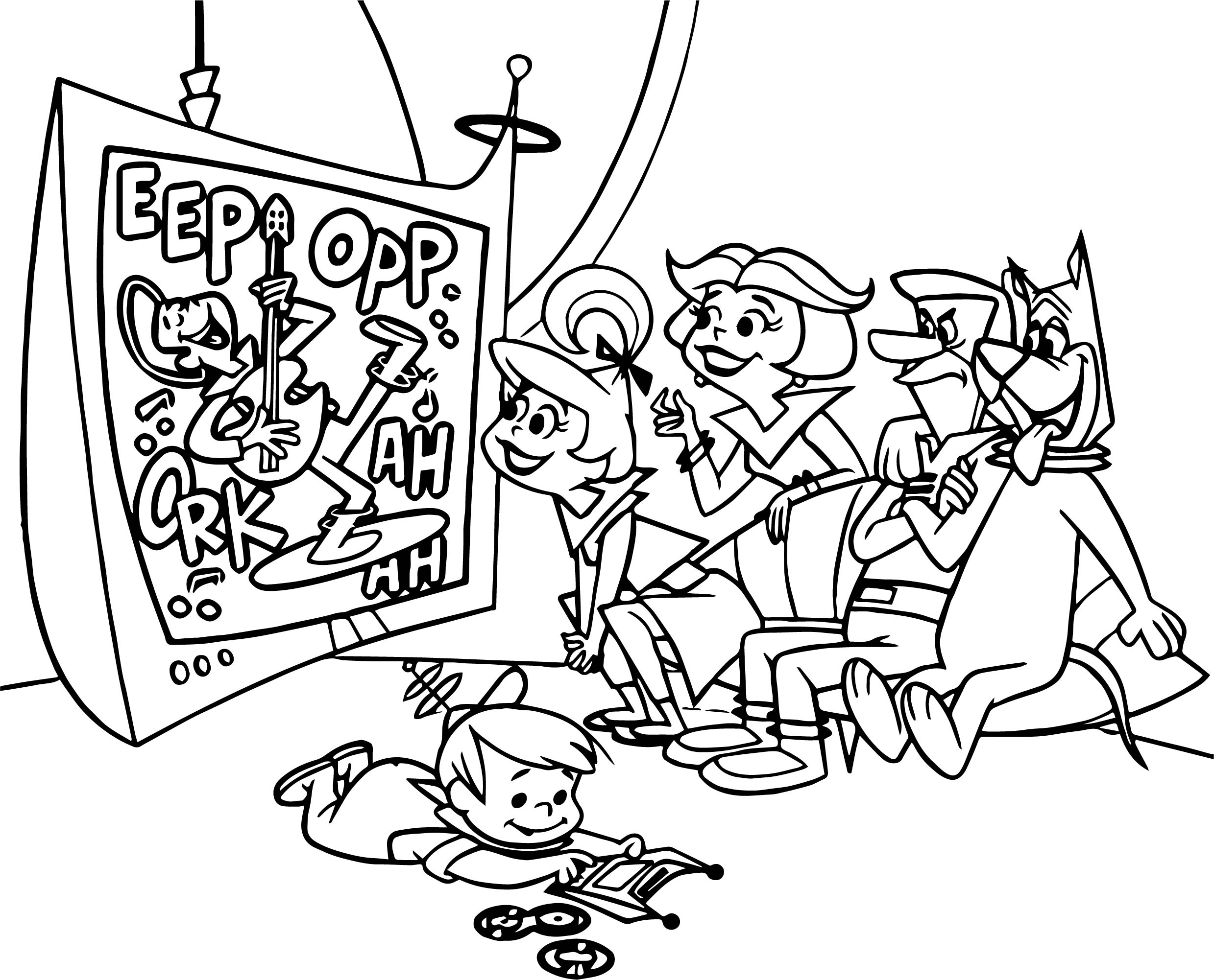 Eep Opp Post Jetson Family Coloring Page