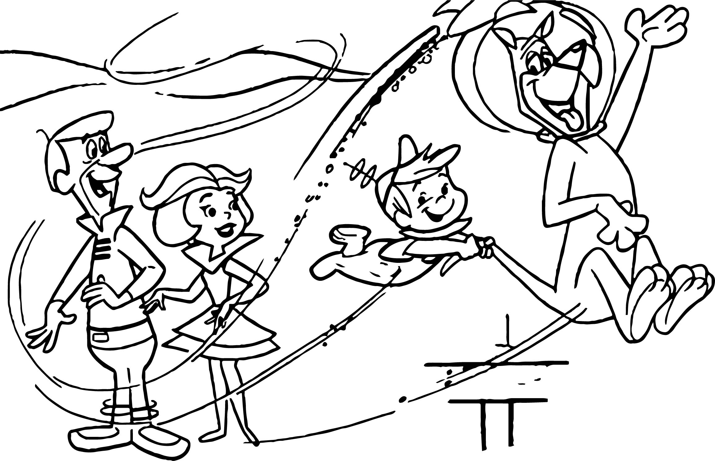 Elroy Rides Astros Cropped Coloring Page