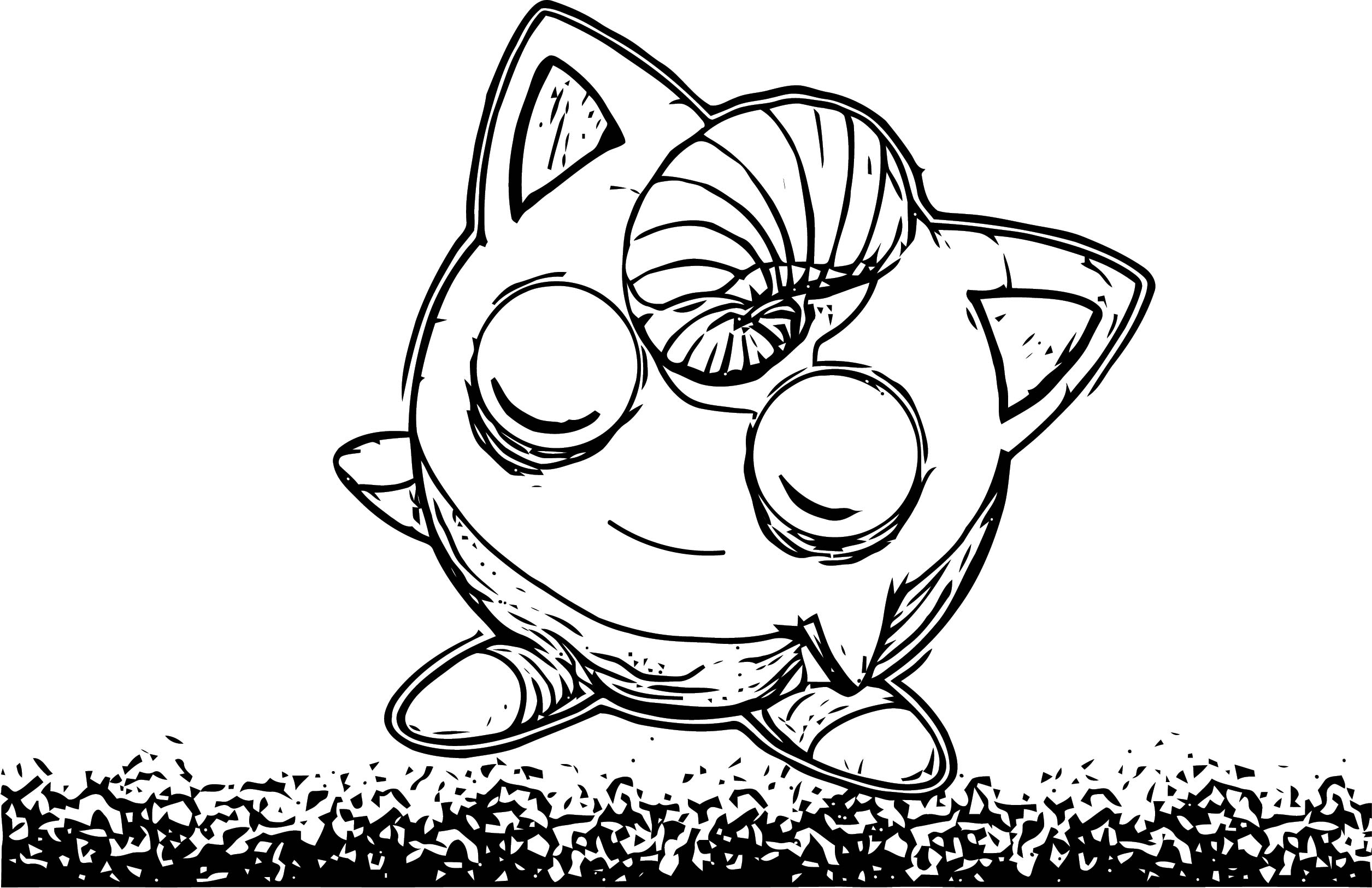 Evil Jigglypuff Coloring Page