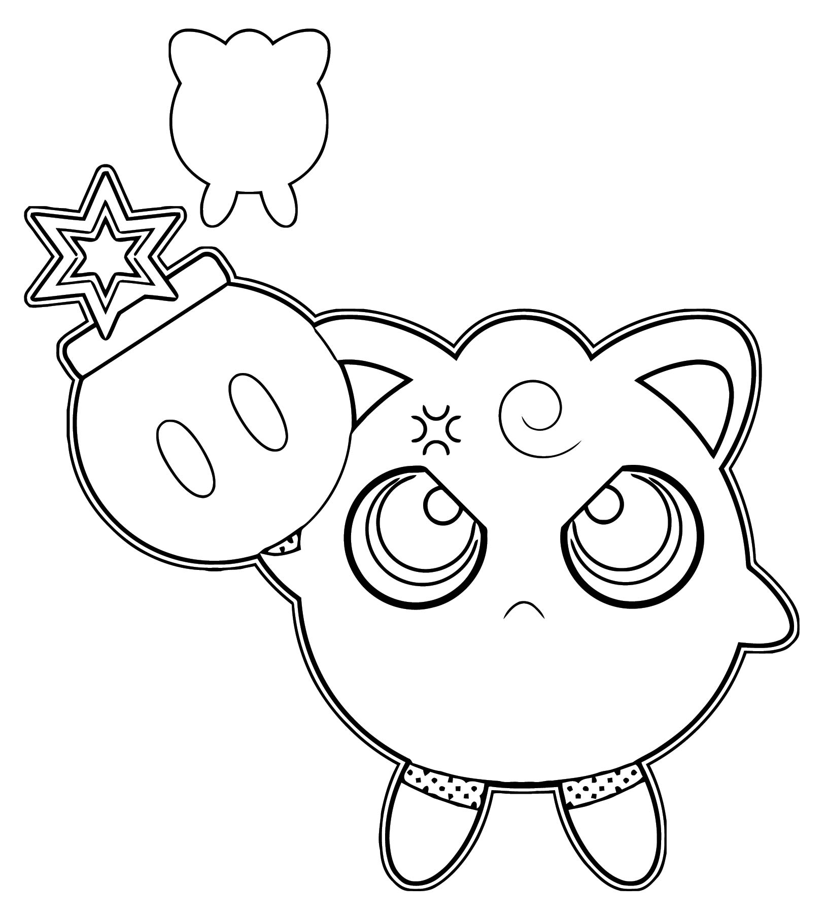 Explosive Jigglypuff Coloring Page