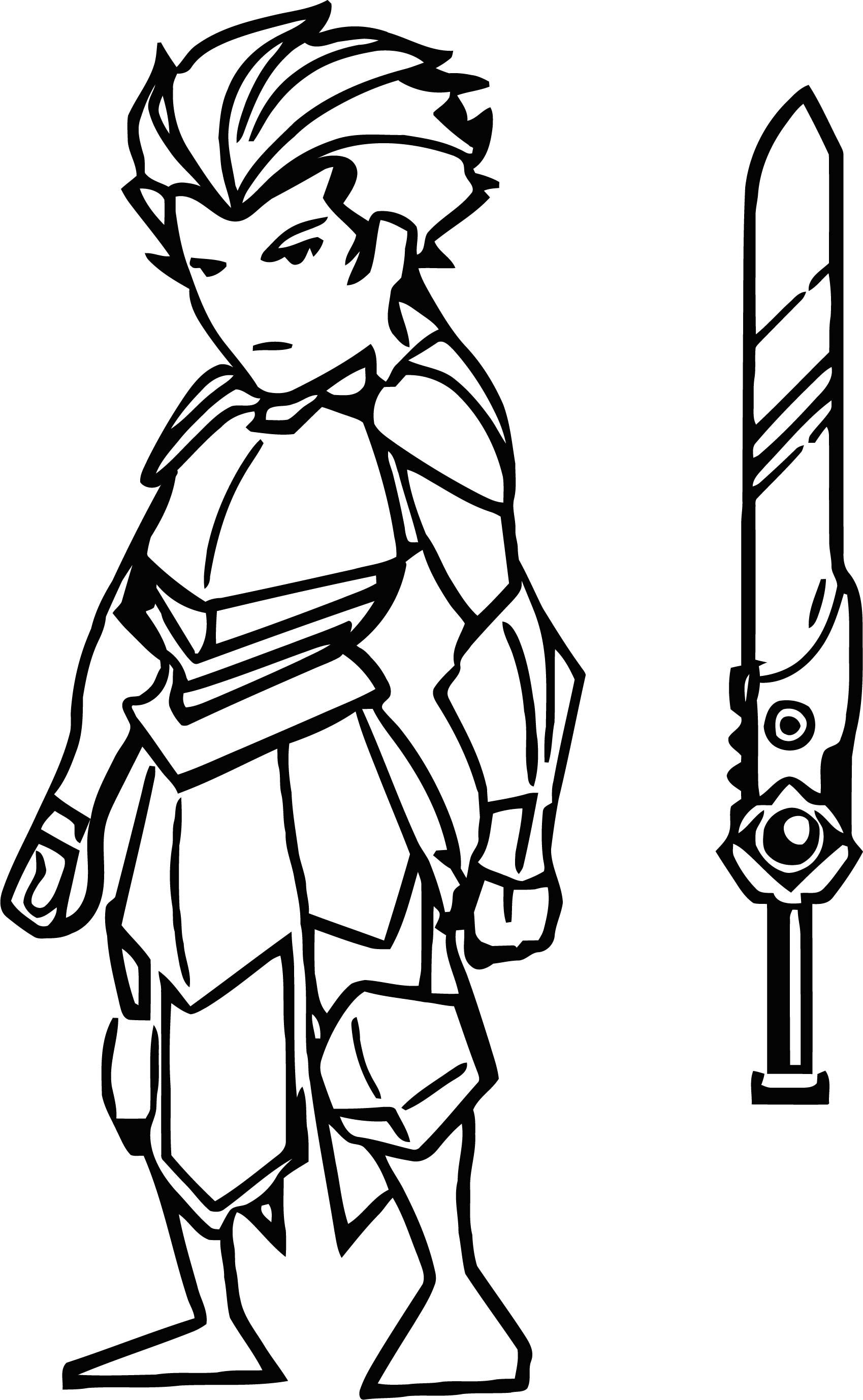 Final Character Design Game Cartoonized Coloring Page