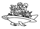 Hot Wheels Jetsons Capsule Car Coloring Page