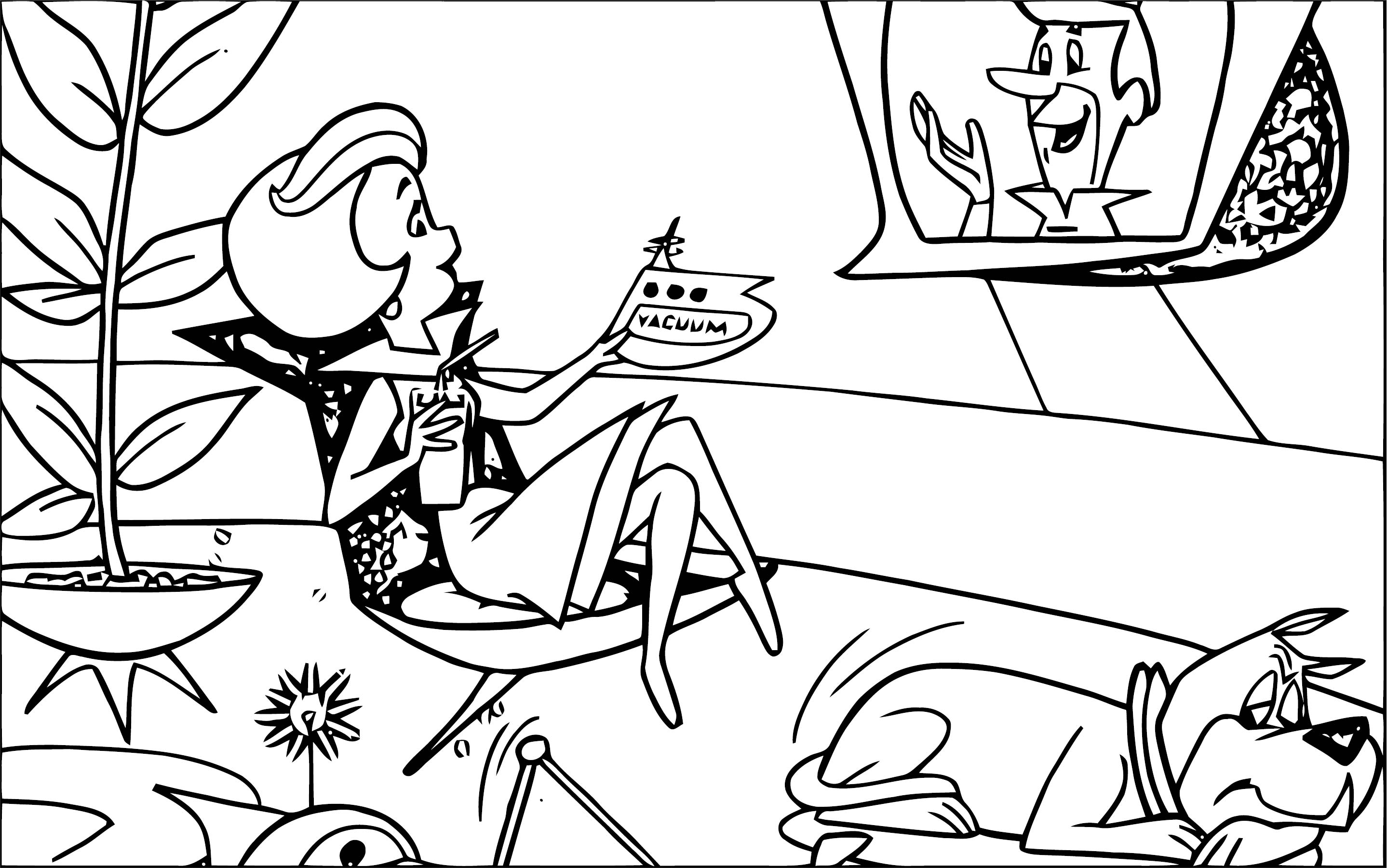 Jane Jetson Jetsons Coloring Page