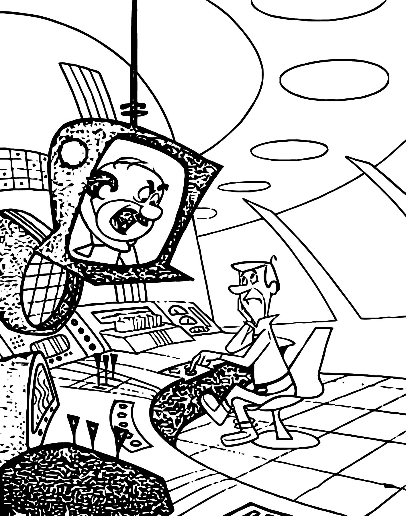 Jetsons 9 Coloring Page Wecoloringpage