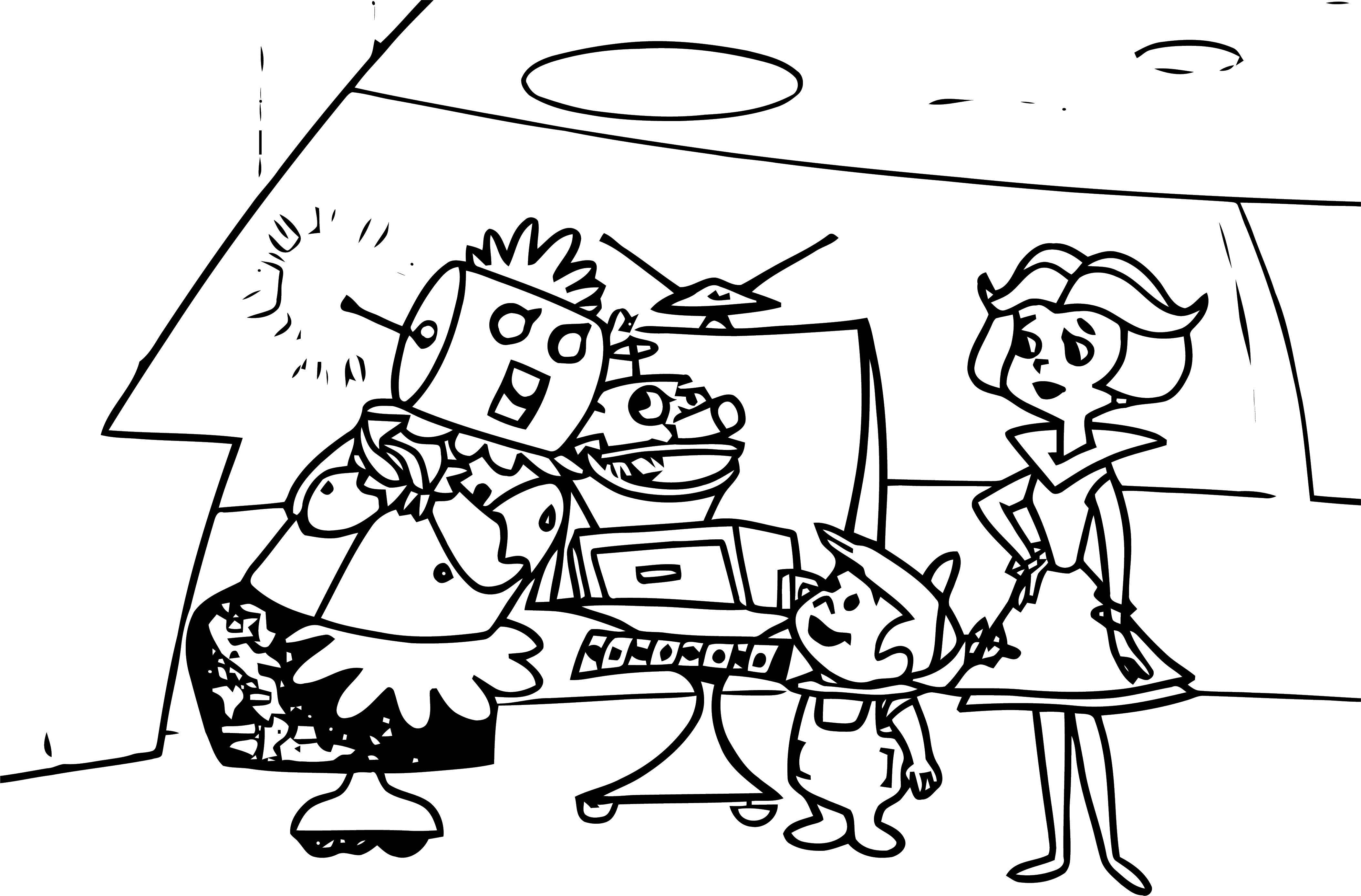 Jetsons Coloring Page 073