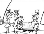 Jetsons Family Coloring Page