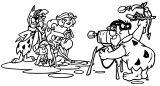 Jetsons Flintstones Coloring Page