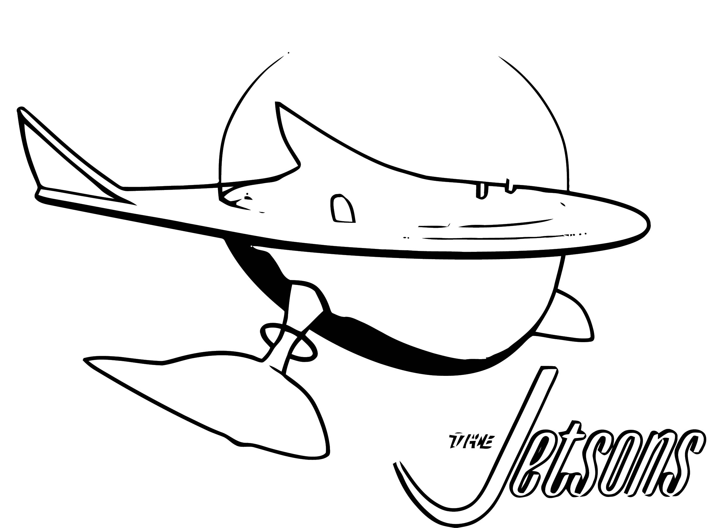 Jetsons Flying Car Coloring Page