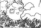 Jigglypuff Anime Coloring Page