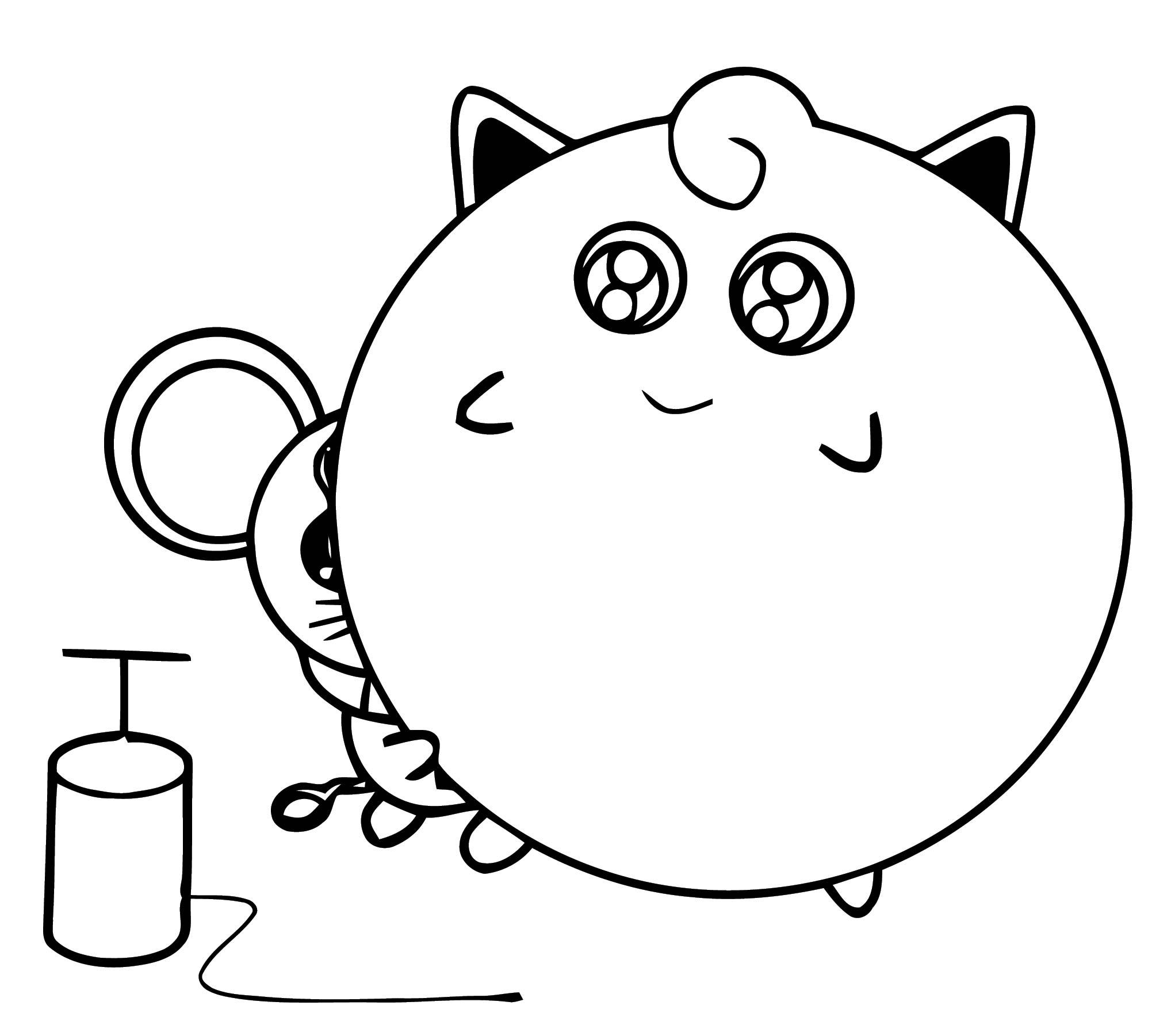 Jigglypuff Balloon Ball Coloring Page