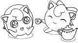 Jigglypuff Birthday Coloring Page