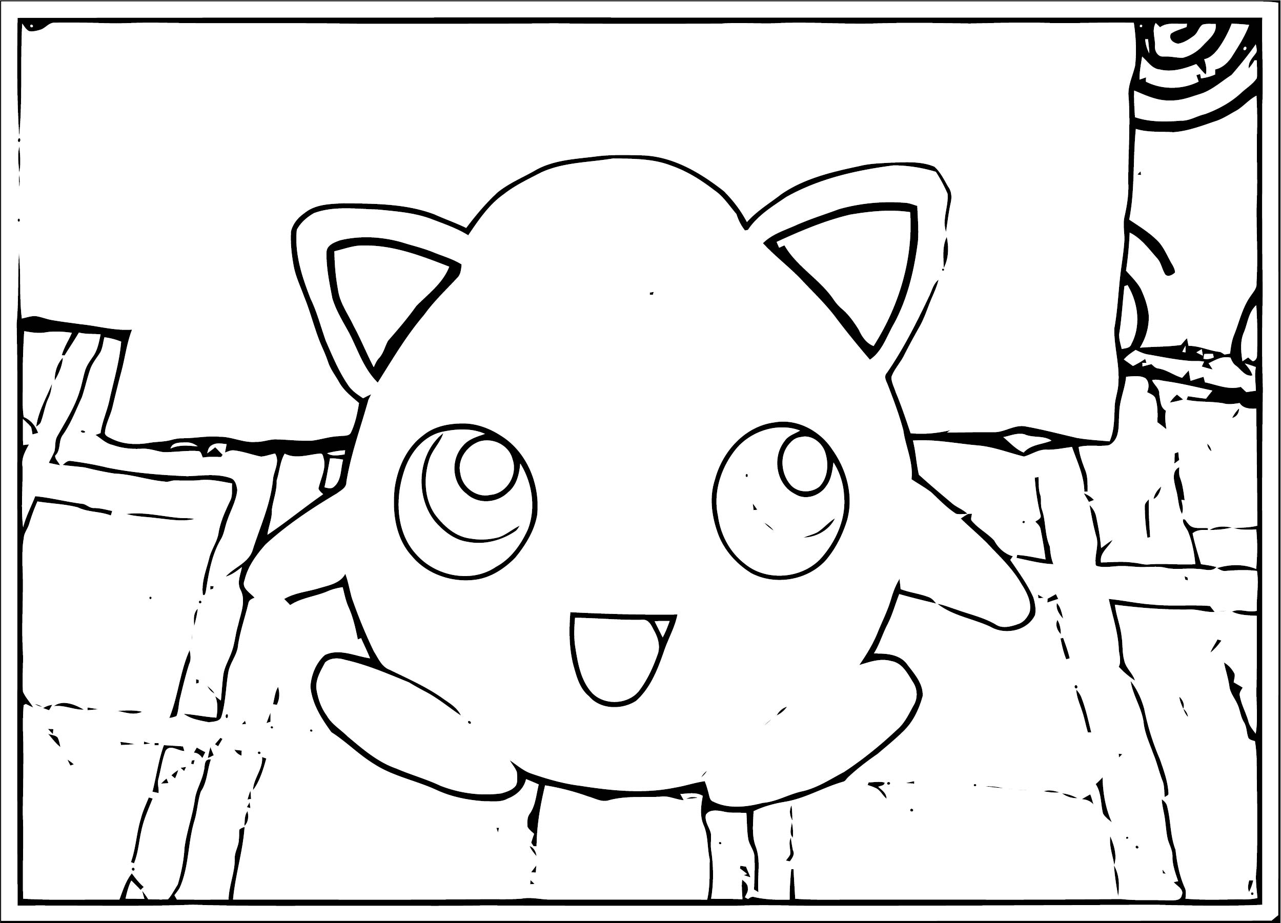 Jigglypuff Coloring Page WeColoringPage 100