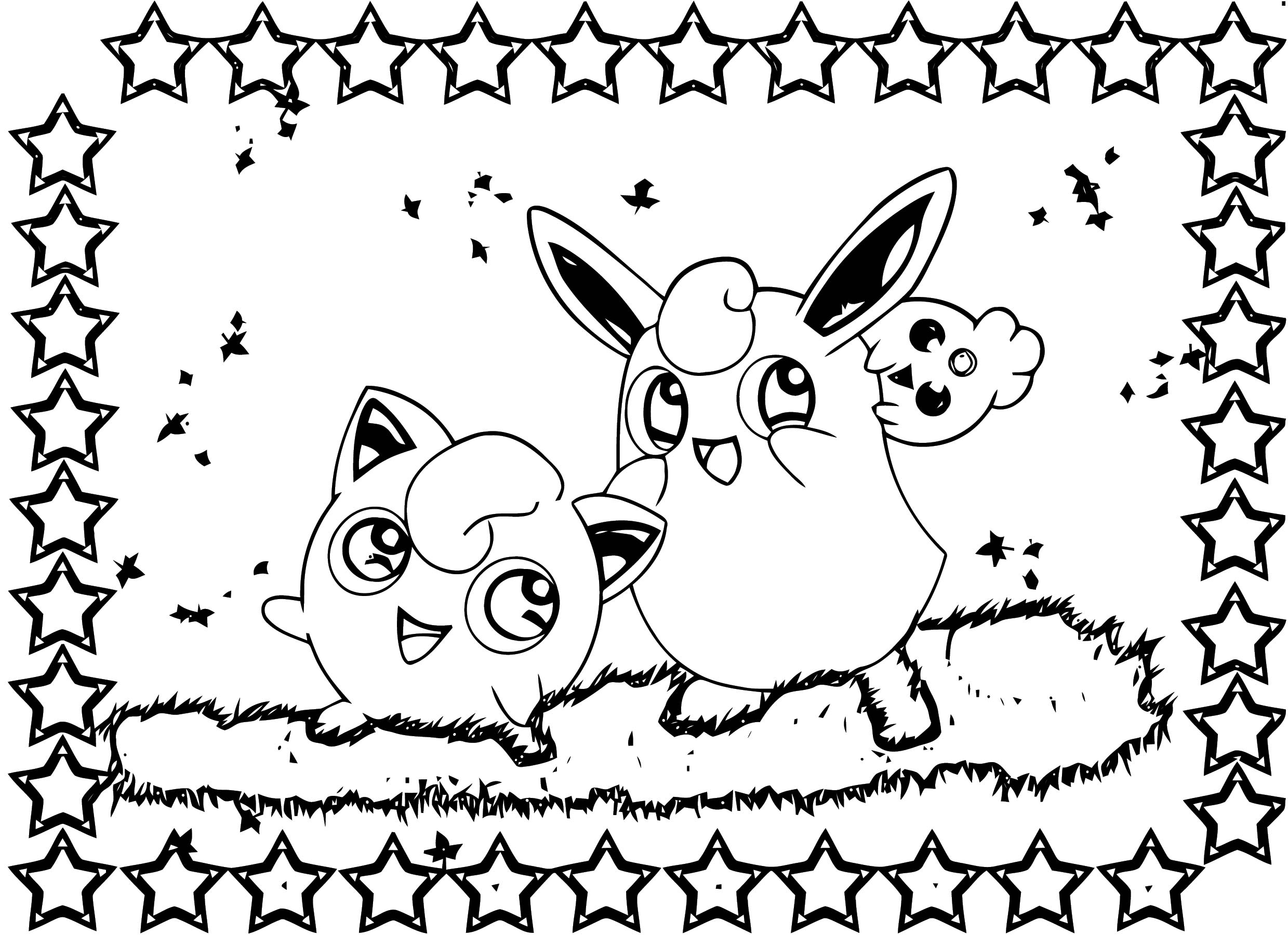 Jigglypuff Coloring Page WeColoringPage 123