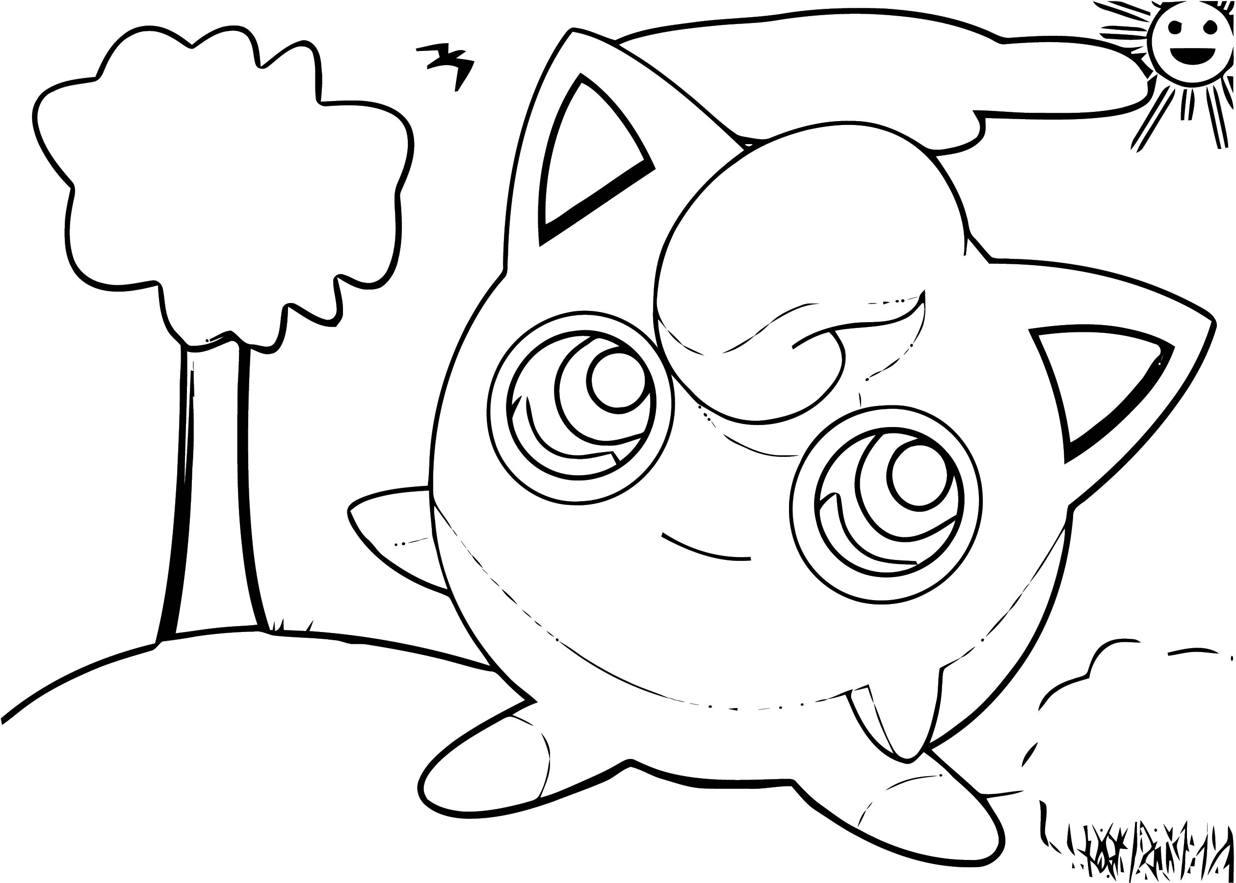 Jigglypuff Coloring Page WeColoringPage 164