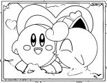 Jigglypuff Kisses Kirby Coloring Page