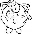 Jigglypuff Moscot Coloring Page