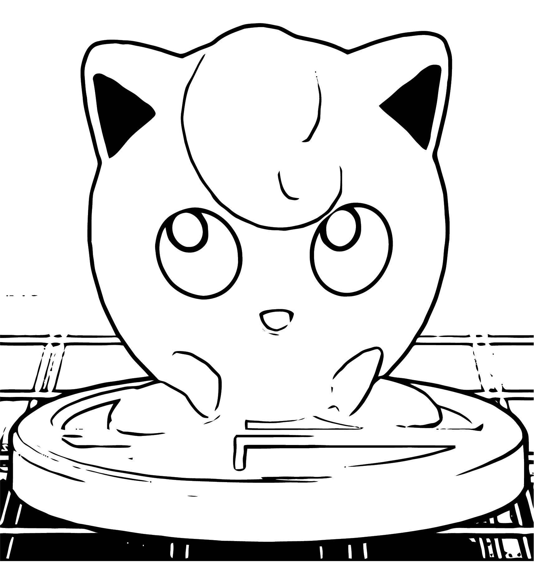 Jigglypuff Trophy Coloring Page Wecoloringpage Com