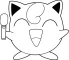 Jigglypuff With Mic Coloring Page