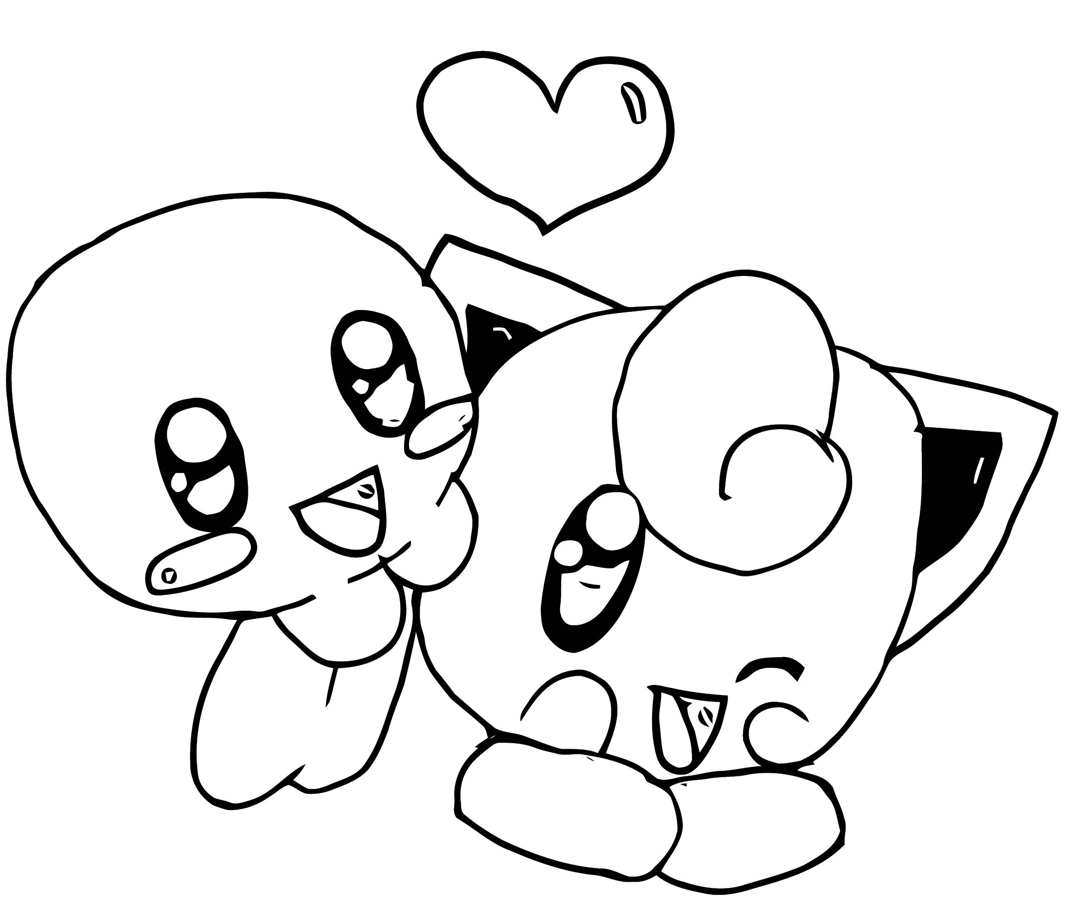 Kirby And Jigglypuff Coloring Page