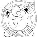 Kirby Jigglypuff Coloring Page