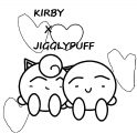 Kirby X Jigglypuff Coloring Page 2