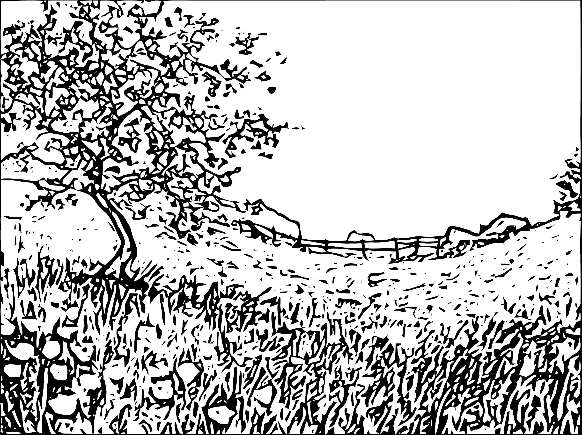 Landscape Art Coloring Page