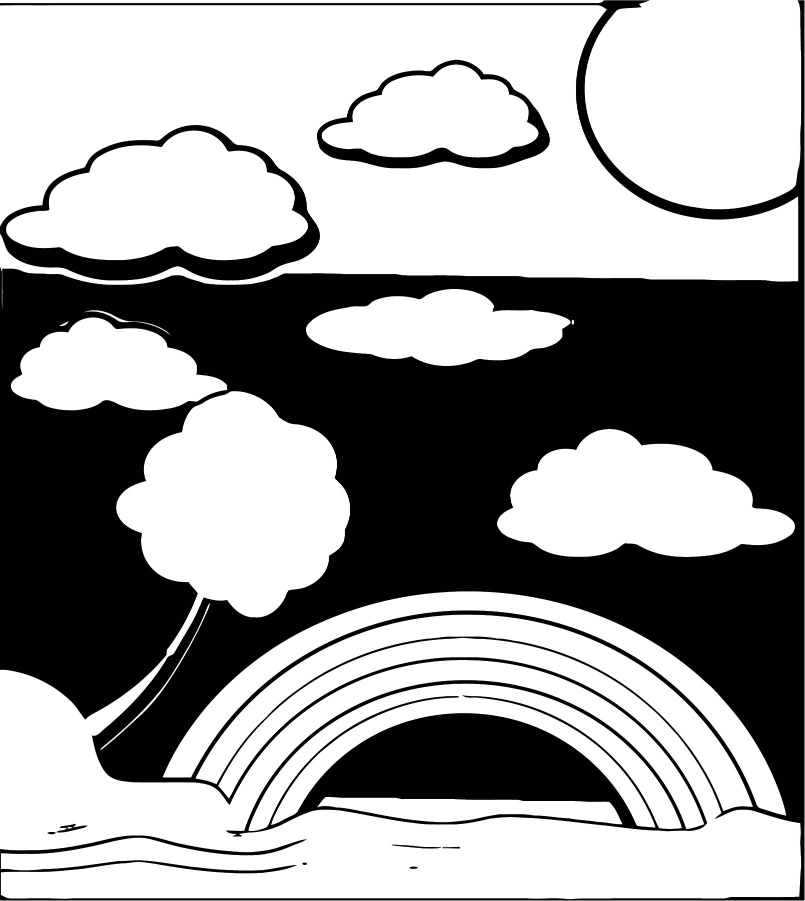 Landscaping Landscape Black White Coloring Page