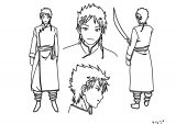Magi Dorji Character Design Cartoon Coloring Page