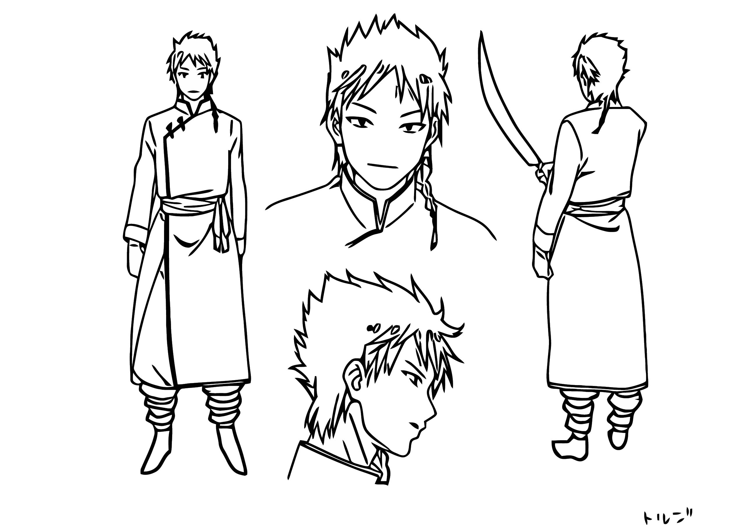 Magi Dorji Character Design Cartoon Coloring Page