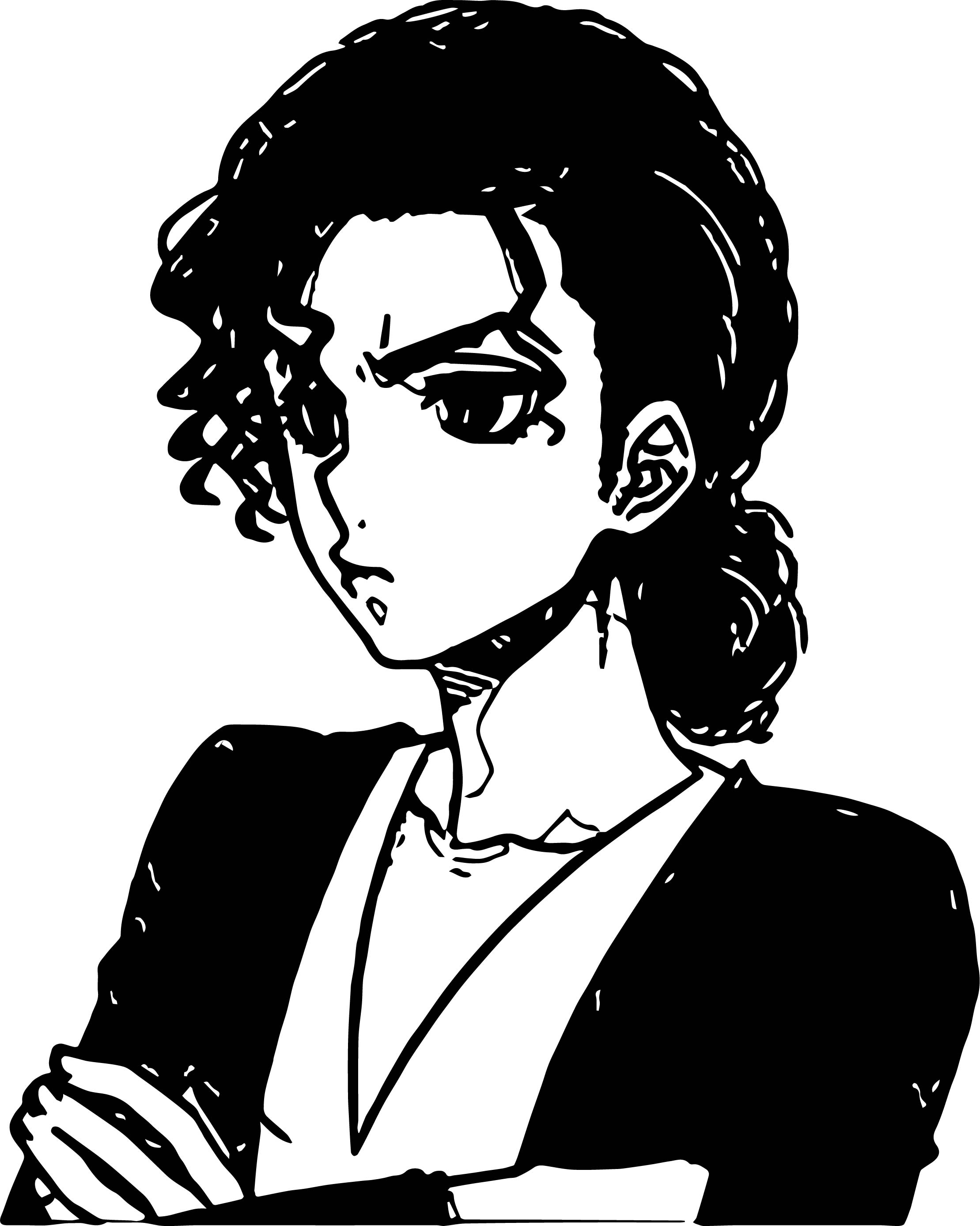 Michael Jackson Anime Think Coloring Page